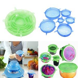 2 Set Küche Silikon-Stretch-Runde Lids Cup Bowl Abdeckungen Verschiedene Größen