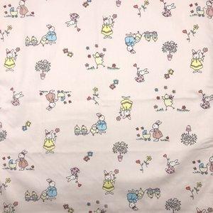 coniglio simpatico cartone animato per bambini stampato bandane fasce Furoshiki sciarpa fazzoletti Placemat tanti usi / Dimensioni