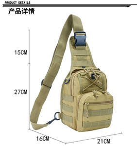 Wholesale Tactical Camouflage Chest Bags Outdoor Camping Hiking Bag Single-Shoulder Bag Bicycle Camo Storage Bag Sports Diagonal Package
