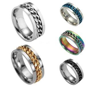 Los productos que Huitan creativo cadena del diseño de los hombres anillo con micro pavimentado Destino Enlace pares del anillo Para GirlfriendBoyfriend Selling # 491