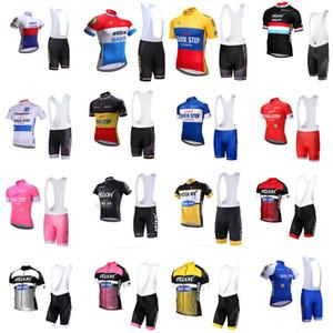 Quick Step велосипедной команды Джерси нагрудник шорты наборы гоночных велосипедов мужчин с коротким рукавом одежды дышащий Quick Dry SPORTWEAR A61128
