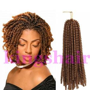 8 pouces Twist moelleux Twist printemps Twist Crochet tressage cheveux nubiens cheveux Ombre Printemps bouclés 30 Strands / pack