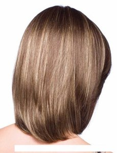 H Shoulder Length Short Straight Fashion Women &#039 ;S Full Hair Wig Straight Synthetic Bob Wig With Bangs