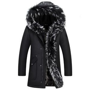 Hommes d'hiver de haute qualité en duvet d'hiver veste manteau veste avec capuche en fourrure amovible parka hommes manteau veste en duvet masculin Plus Size 4XL 5XL