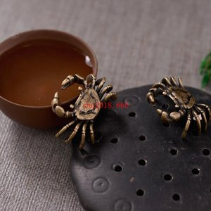 30pcs Mini Antique Crab Tea Tea Teaware Ornement Miniature Figurine Décoration de La Maison Kombucha Accessoires De Thé