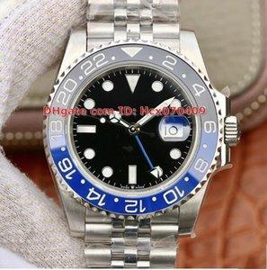 Miglior EW qualità Maker 40 millimetri 116710BLNR GMT Batman mondo Pepsi Basilea Blue Black lunetta in ceramica CAL.2836 automatico Mens Watch Watche