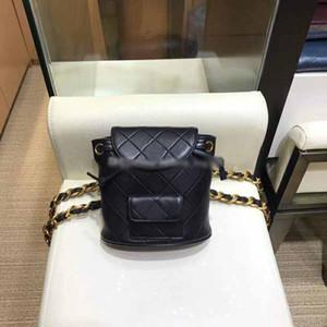 Cadeia de Moda de Nova Top Quality Plaid Mulheres Mochila de couro genuíno grade Flap Bag Designer Senhora Mochilas Shoulder Handbag Voltar Método Purse