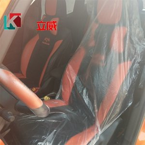 New Automobile Chairs Cover Disposable Clear Anti Dust Splash And Splatte Car Chair Sleeve Plastic Auto Seats Covers Single Seat 0 29kl E19