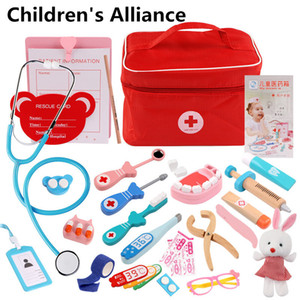 Kids Pretend Play Doctor Set Kit Role Play Classic Toys Simulation for children girls classi interesting medical themed Toys Y200428
