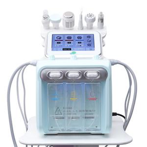 6 en 1 piel de agua del oxígeno Jet Diamante dermoabrasión máquina de limpieza Hydro dermoabrasión facial Hydra agua de la máquina Peeling microdermoabrasión