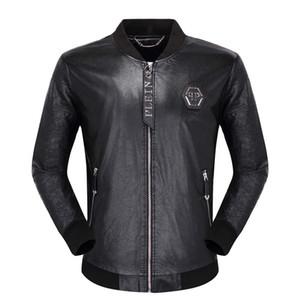 2019 Erkek deri ceketler moda markası yüksek kaliteli ceket sokak yeni erkek deri ceketler sonbahar kış lüks ceket