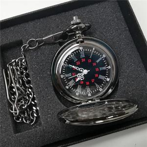 Top Brand di lusso tasca unisex orologio meccanico di scheletro d'oro intagliato Orologi catena pendente