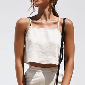 Summer Crop Top 2019 Sexy Fashion Women Pure Colour Zipper Canotta Vest Top Sexy Vestiti facili Top corto Abiti femminili Femme