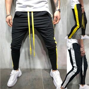 Erkek Pantolon Rahat Moda Erkekler Spor Uzun Pantolon Eşofman Joggers Spor Egzersiz Pantolon Sweatpants