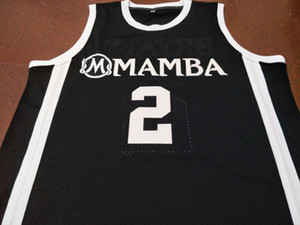 Custom Men Youth women Rare round neck #2 Mamba Gigi K B College Basketball Jersey Size S-5XL or custom any name or number jersey