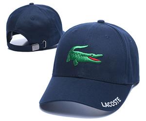 Gorras de béisbol Deporte cocodrilo estilo clásico de la alta calidad de Golf Caps sombreros de Sun para hombres y mujeres diseñador del casquillo del Snapback ajustable Best Cap papá