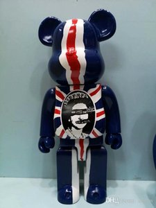 New 400% bearbrick violent bear British queen flag hand model toy ornaments doll birthday gift Christmas gift FD11