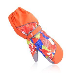 Dropshipping 2016 new kids winter professional girls boys waterproof warm gloves Christmas gift snow ski gloves for children