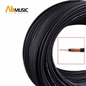 10M 4MM Diamètre guitare PVC Câble Dual Core Low Noise Guitar Cable Noir