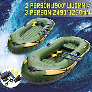 NEW SGODDE 2Person / 3Person Утолщение ПВХ Надувные лодки Плот Река Озеро Шлюпка лодка насос Рыбалка с Весла Установить нагрузки 200кг