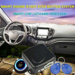 2020 coche arranque y parada del motor Push Button Start Stop botón de alarma empuje RFID cerradura de la entrada de la puerta sin llave Sistema de encendido táctil