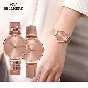 2017 selling new high-quality stainless steel mesh belt quartz female table simple fashion couple diamond-studded waterproof watch