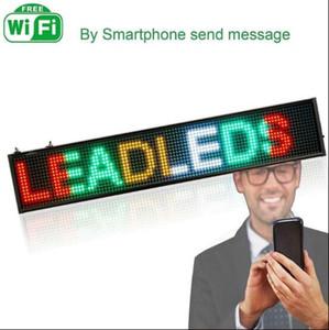 2020 SICAK Yeni akıllı yaratıcı Wifi LED logosu programlanabilir rgyw reklam için mesaj panosu kaydırma