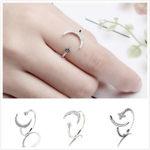 Европейские и американские горячие продажи Роскошные дизайнерские кольца Moon Star Opening Band кольца для женщин девочек