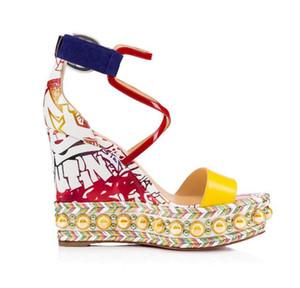 Damas perfectas zapatos inferiores rojos para las mujeres Colombe Glitter Diams Chocazeppa tacones altos mujeres gladiador sandalias vestido de boda del partido