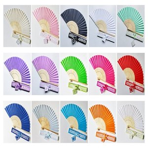 Silk Bamboo Handheld Folded Fan Wedding Favor Fan with Laser Cut fan Gift Box for White Bridal Gift Party Favors
