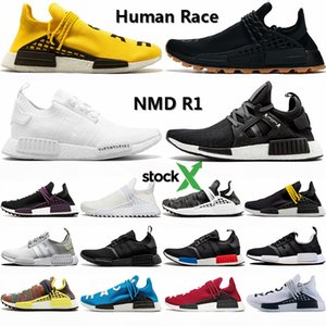 Adidas 2020 Nuovo caldo NMD R1 Hu razza umana Pharrell Williams Mens Running Shoes Giallo Infinite specie allevate mastermind Giappone Bianco OG Sneakers