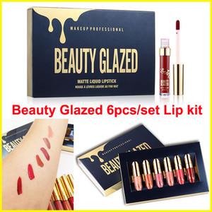 메이크업 6pcs / set 립글로스 뷰티 글레이징 매트 액상 립스틱 모이스처 라이저 생일 Edition 립글로스 립 키트 화장품 DHL