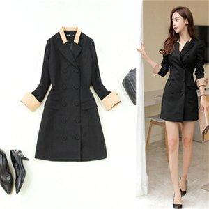 blazers de moda feminina primavera / verão nova alta qualidade de manga comprida preta ocasional blazer Negócios coat mulheres blazers mulheres