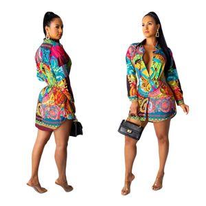 السفينة حرة النساء مثير رفض طوق طباعة القميص فساتين عادية سليم البسيطة اللباس vestidos نادي الحزب ارتداء XXL