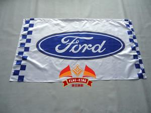 Форд гоночный флаг автомобиля,90*150см полиэстер баннер Форд
