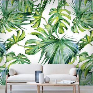 Relief Light green leaf Wallpaper for Living Room Bedroom Mural Wall papers 3D Desktop Background Wallpaper home decor