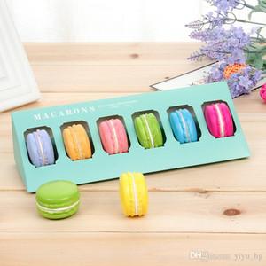 5 Color Macaron Caja de empaquetado cajas de torta Hecho en casa Cajas Macaron al por menor de papel de embalaje caja de papel del interior exterior transparente 23 * los 9.8CM