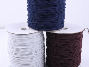 .5 mm White Brown Dark Blue Craft Nylon Coated Elastic Cord Band,Stretch Elastic Thread Round Drawstring,Making masks