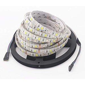 50m Dc12v Rgb Ww ha condotto l'illuminazione di striscia Kit 16 .4ft 5m SMD5050 300leds impermeabile Cambiare colore Luci flessibili