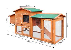 Fabrika fiyat 70 inç L çevre dostu toptan leasy temiz kanatlı kafes barakası açık tavuk kümesi, metal tavuk kafesi
