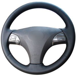 Cubierta de volante de cuero sintético negro para Lexus ES240 ES250 ES300 ES350 2007-2012 Lexus GS350 GS450h GS460 2009 2010