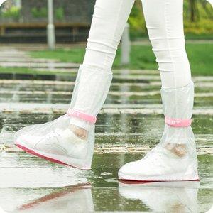 2019 Nova chegada cristal de alta qualidade úteis impermeáveis Covers sapatos Adulto Flattie chuva com duráveis Material PVC para o curso @D