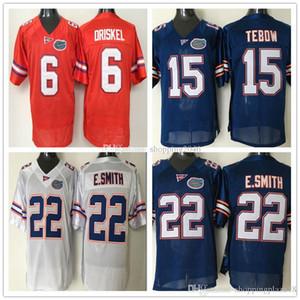 Florida Gator 22 Emmitt Smith 6 Jeff Driskel 15 Tim Tebow Erkekler NCAA Kolej Futbol Formaları Dikişli logolar