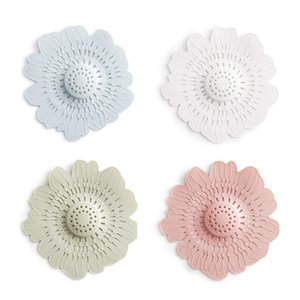 New Cute Flower Shape Silicone Sink Filter Bathroom Sewer Drain Strainers Anti-clogging Shower Covers Kitchen Bathroom Accessories