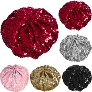 Hot Muticolor Sequin Basco Hut Baskenmütze Disco-Abendkleid-Partei-Kostüm-Kopfbedeckung
