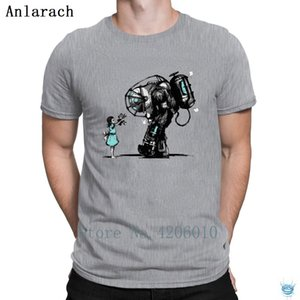 Bioshock Big Daddy Camisetas sites cor sólida Customized T Shirt For Men clássico bonito Cotton Anlarach Lazer