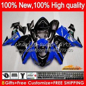 Carrozzeria per Kawasaki ZX 10 R ZX1000 CC ZX1000 ZX 10R 06 07 Corpo 44HC.57 ZX 1000CC ZX10R 06 07 ZX10R 2006 2007 carenature kit blu nero caldo