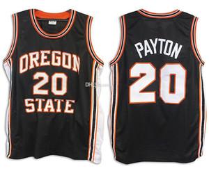 # Maglie Oregon State Beavers Collegio Retro Classic Basketball Jersey Mens cucito su misura: numero e nome 20 Gary Payton