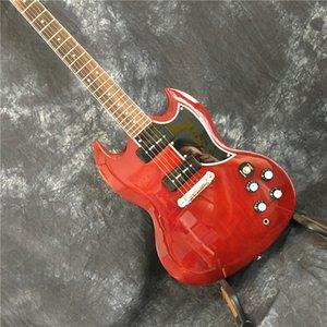 Yüksek Kalite Çin Elektro Gitar, Sg Elektro Gitar, P90 Transfer Tr Custom Elektro Gitar ile Şarap Kırmızı Renk