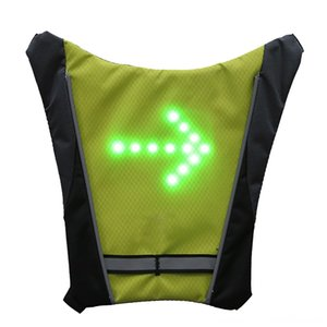 2019 LED Wireless cycling vest MTB bike bag Bicycle Accessories Cycling Safety LED Turn Signal Light Vest Bicycle Reflective Warning Vests w